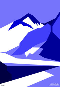 Everest Blue - Art Gallery Support - Art Gallery Selection - Asbjorn Lonvig