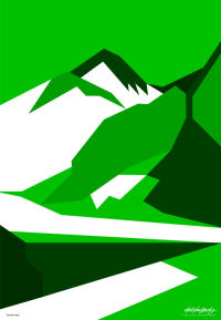 Everest Green - Art Gallery Support - Art Gallery Selection - Asbjorn Lonvig