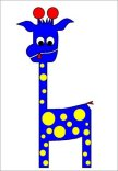 tall-charlie. blue giraffe.