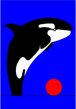 Pacific Sunset, Killerwhale - British Columbia, By Asbjorn Lonvig, artist.