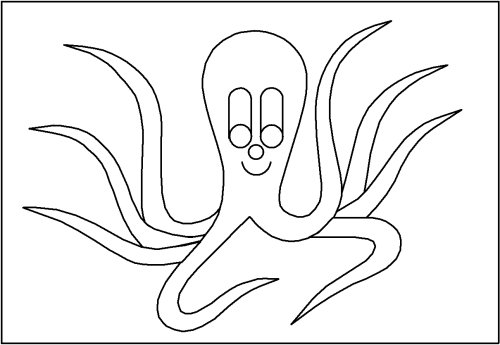 Octo-Pus, octopus, cuttlefish, from Online Children's book The cuttlefish Octo-Pus and the crab Crab-Mac-Claw. Main character in tje LUCCA project. By Asbjorn Lonvig, Danish designer and fairy tale writer.