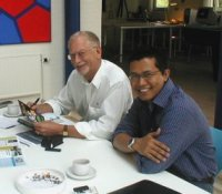 Teguh Prasetyo Heruwaluyo, Jakarta, Indonesia and director Torben Cornelius