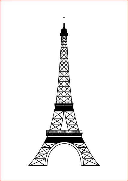 Черно белые картинки эйфелевой башни 6