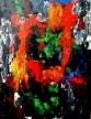 sube y las llanuras, días tristes, de acrílico en el  panel duro, 184 x 122 centímetros.Ésta es la mejor - o el  peor - pintura que he hecho siempre. ¡He utilizado un cuchillo de madera del bloque y el llenar!!!!Esta pintura cuenta una  historia muy especial.Un drama.Por Asbjorn Lonvig,  artista danés, diseñador, storyteller, escritor.