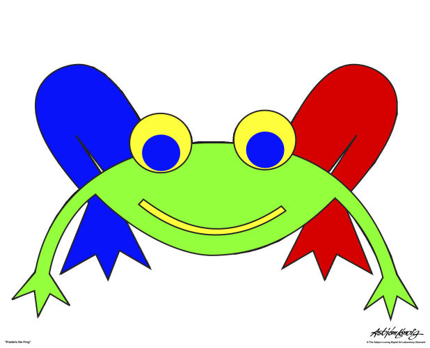Fairy Tales Characters. Green Fairy Tale Frog