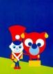 El Tinderbox. firmó los carteles de los cuentos de  hadas de Hans Andersen cristiano, impresión de la compensación, 70 x 50 centímetros.8 adornos inspiraron de los cuentos de hadas  de Hans Andersen cristiano.La Yesca-Caja, la princesa en el  guisante, el soldado firme de la lata, Simple-Simple-Simon, las ropas  nuevas del emperador, Willie Winkie, el Swineherd y Thumbelina.Por Asbjorn Lonvig, artista danés, diseñador, storyteller,  escritor.