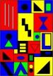 Un alma lastimada, días felices, de acrílico en lona, 201 x 139 centímetros inspiró de Navidad 2002, museo del arte de  Jutland del Norte, orujo Chagall, Ernst máximo, un otro significativo - y arte nativo americano.Por Asbjorn Lonvig, artista danés, diseñador, storyteller, escritor.