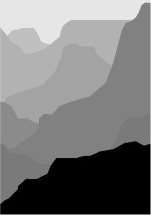 grey canyon, landscapes, acrylic on canvas, 201 x 139 cm, Edition 5,  Grand Canyon, Arizona Desert and Mount Everest.
