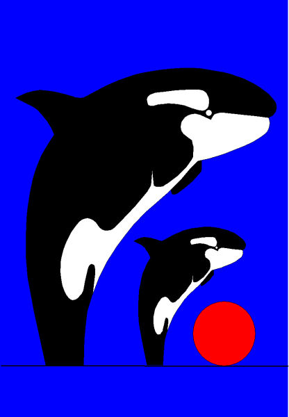 Killerwhales, San Diego, Sea World, California, USA,  Manhattan Arts International, New York, USA, Asbjorn Lonvig, artist, Denmark