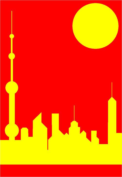 China Five - Shanghai Sunshine  by Asbjorn Lonvig, artist, Denmark