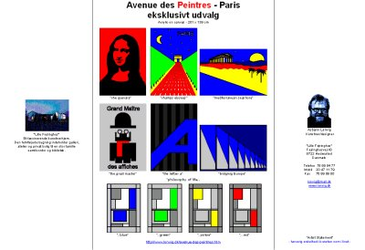 Brochure on a selection of paintings inspired from Paris. By painter Asbjorn Lonvig, Denmark.