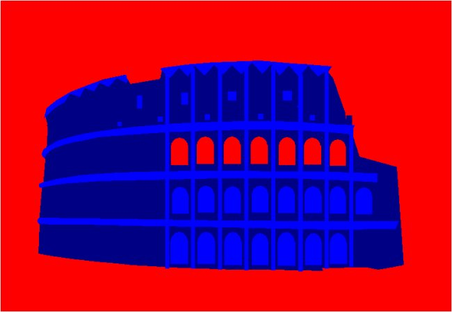 Colosseum, Rome, acrylic on canvas, 201 x 139 cm, edition 5, numbered, signed and certified. Inspired by my son's enthusiastic interest in gladiators, their bloody fights, their circumstances of life, and from the feeling of that violent atmosphere sitting quietly down on the first rows of the Colosseum listening to the high sounds of steel.
