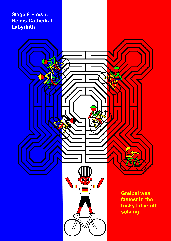 Arras, Reims, Reims                                         Cathedral, Labyrinth, Greipel,                                         stage 6, July 10th,Tour de                                         France 2014, Tour de France,                                         Arras, Reims, la cathédrale de                                         Reims, Labyrinthe, Greipel,                                         étape 6, le 10 Juillet, Tour de                                         France 2014, Tour de France