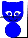 The Blue Cat from Online Coloring book The story about farmer Jack and his animals. Main character in tje LUCCA project. By Asbjorn Lonvig, Danish designer and fairy tale writer.