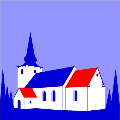 Korning Kirke, church, danish church, Asbjorn Lonvig, artist, Denmark